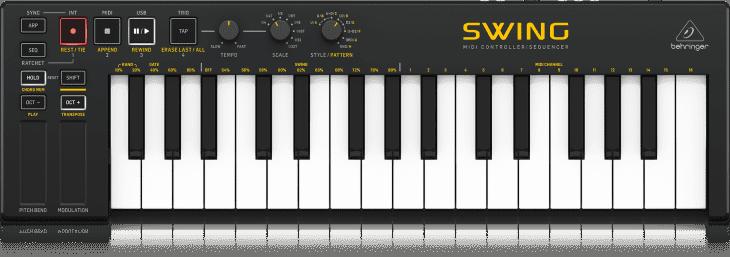 behringer swing usb midi controller keyboard