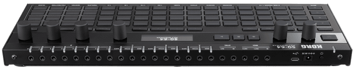 korg sq-64 poly sequencer rear