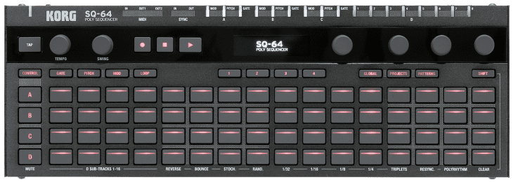 korg sq-64 poly sequencer top