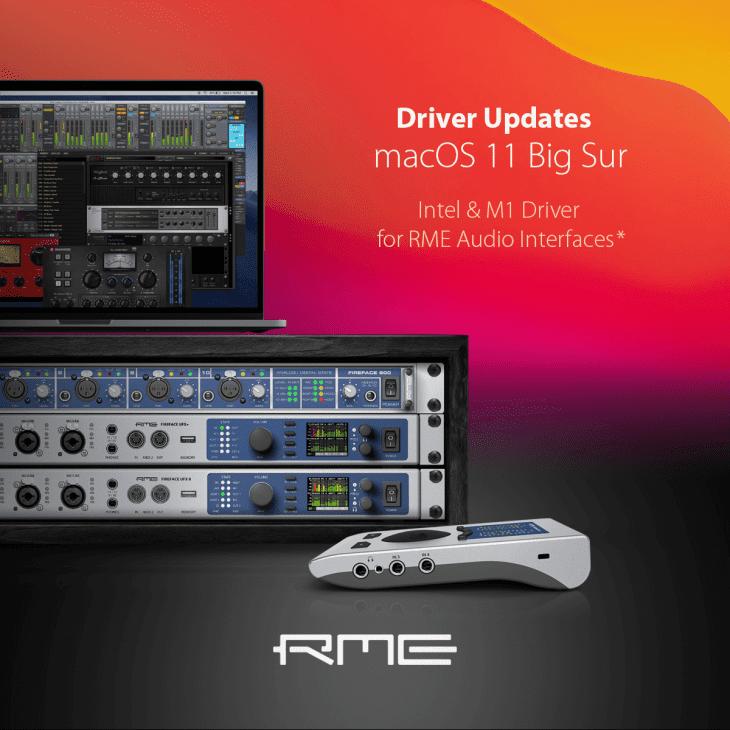 rme audio big sur macos 11 apple m1 chip silicon