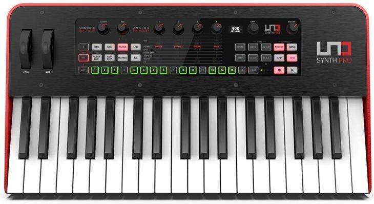 ik multimedia uno synth pro keyboard top