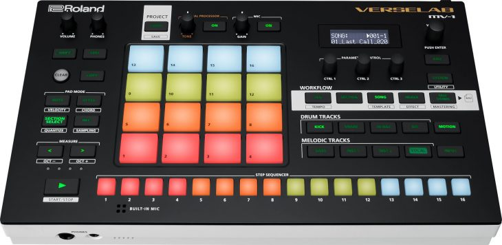 roland verselab mv-1 groovebox slant