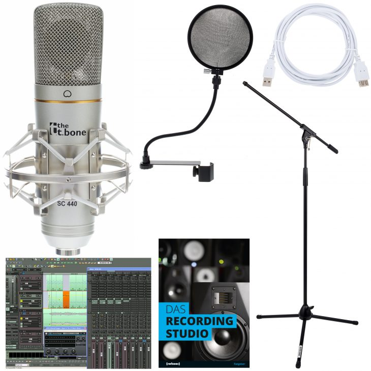 the tbone sc440 usb podcast bundle test