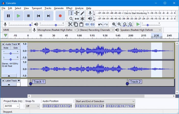 audacity editor audio