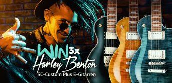 Gewinnspiel: 3 Harley Benton SC-Custom Plus E-Gitarren