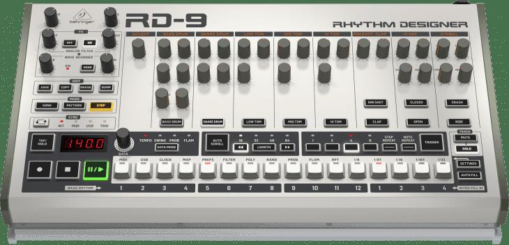 behringer rd-9 drum maschine roland TR-909 top