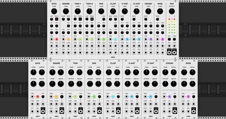vcv drums vcv rack software drum machine modules