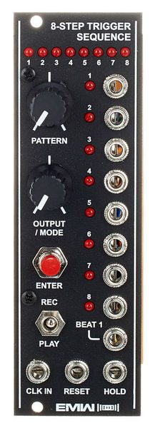 emw trigger 8 step sequencer sequential voltage test