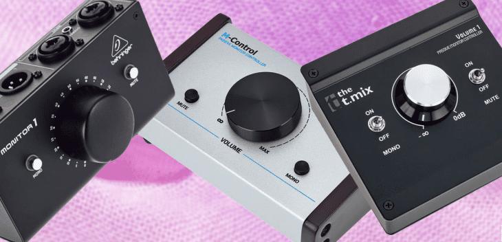 Vergleichstest monitorcontroller t mix volume 1 behringer monitor 1 swissonic m control