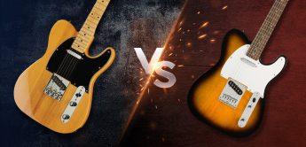 Vergleich Telecaster: Fender SQ Bullet Tele vs Harley Benton TE-52, E-Gitarren