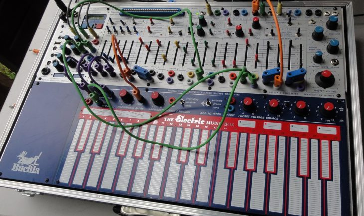 buchla music easel synthesizer top slant