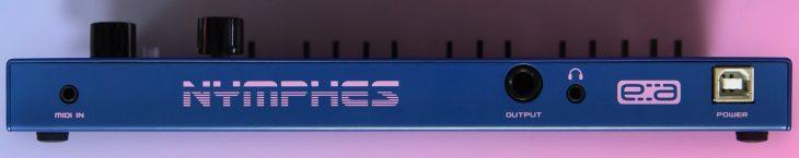 dreadbox nymphes polyphone analog synthesizer rear