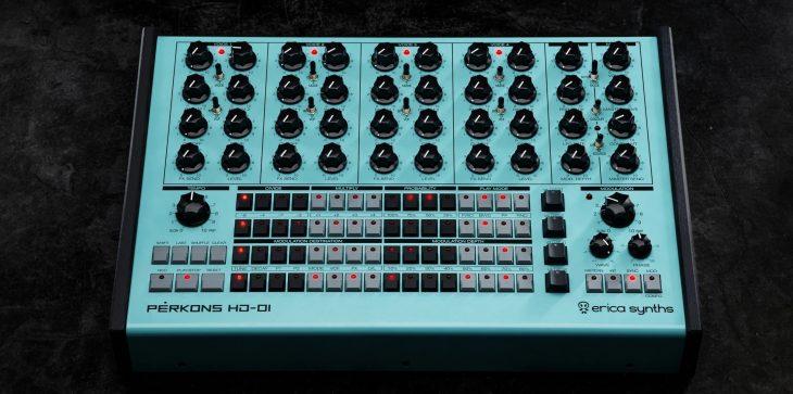 erica synths perkons hd-01 drum machine top