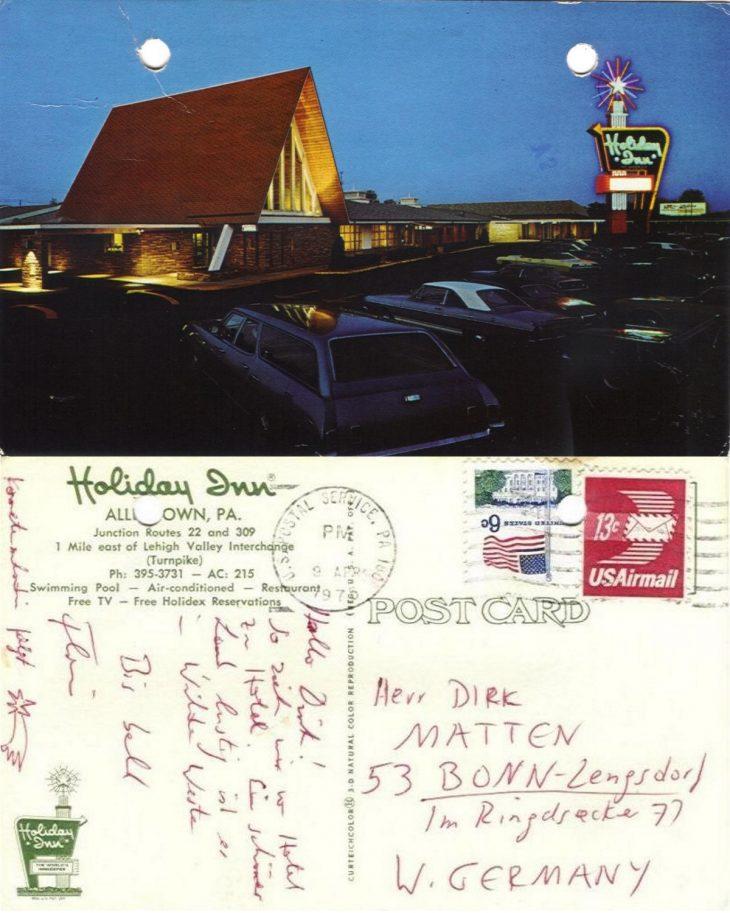 Kraftwerk Postkarte aus den USA