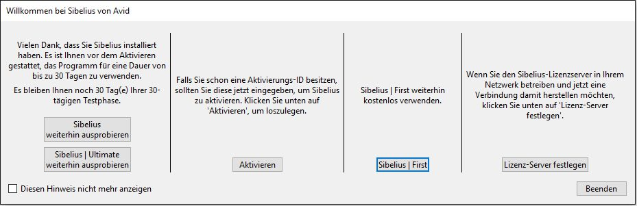 Test: AVID Sibelius Ultimate 2018, Notationssoftware