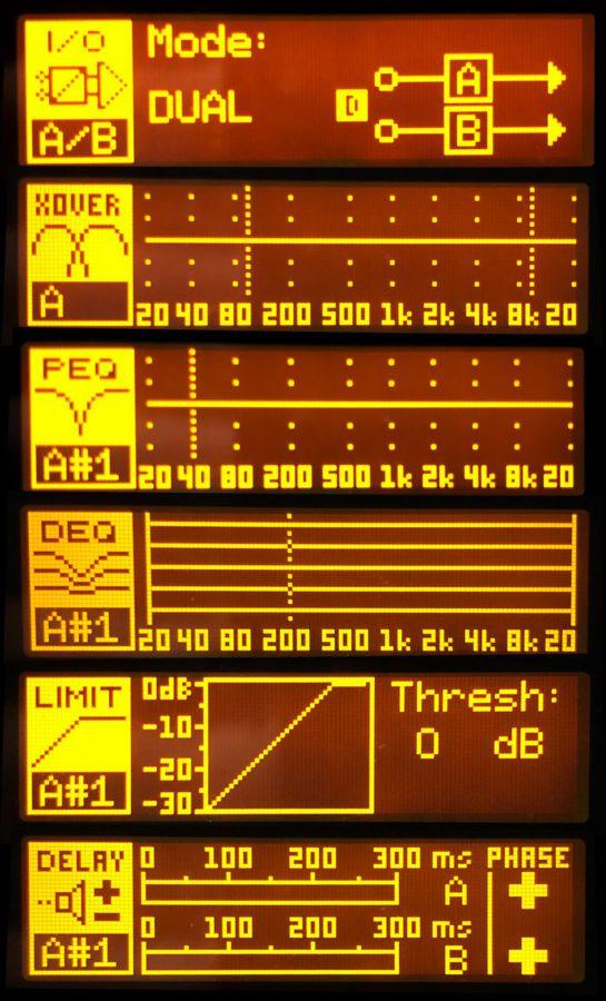 DSP Displays des Behringer NX1000D – willkommen in der Steuerzentrale