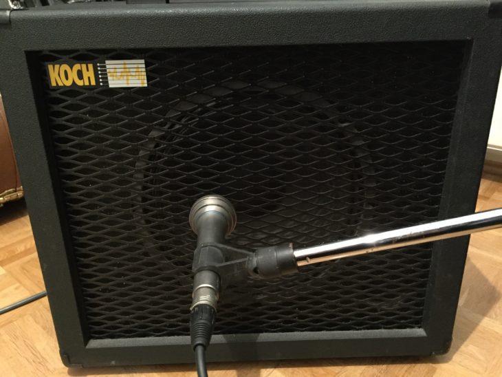 Gitarrenverstärker aufnehmen Koch Cabinet