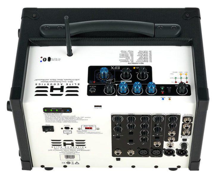 Elite Acoustics M2-6 Acoustic Amplifier Aufsicht Rückseite