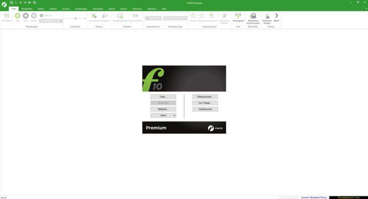Forte 10 Premium - Frisch gestartet