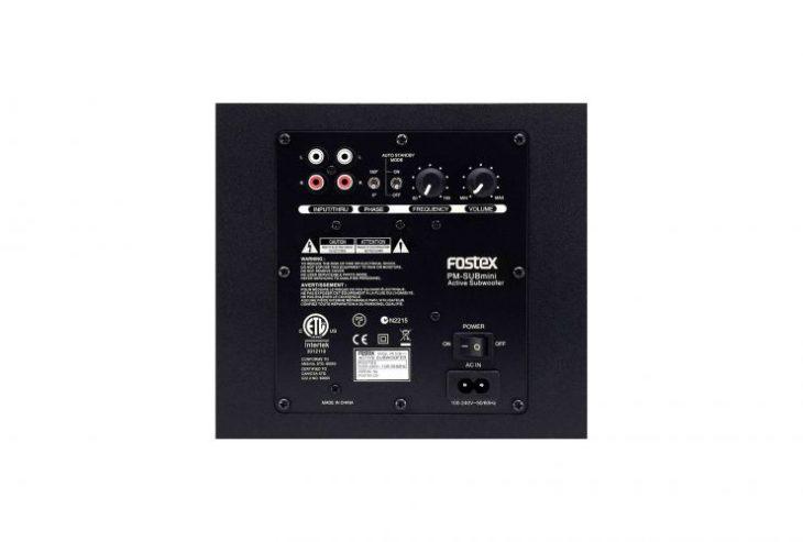 Fostex PM0.3dH, PM-SUBmini2 Rückseite