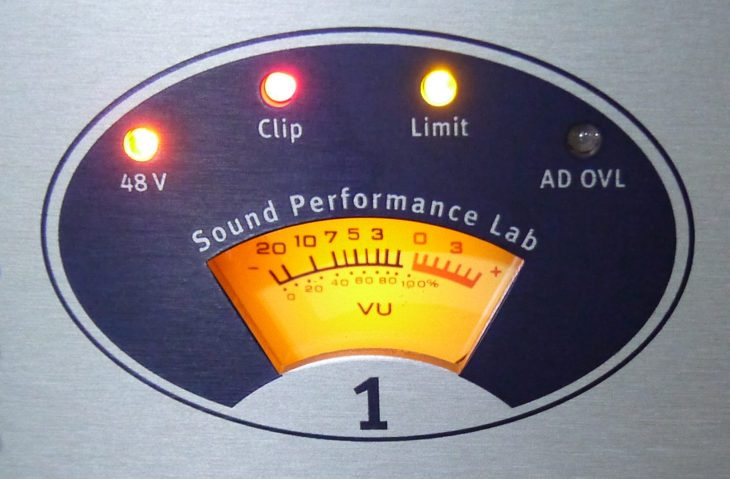 SPL goldmike MK2 vu meter