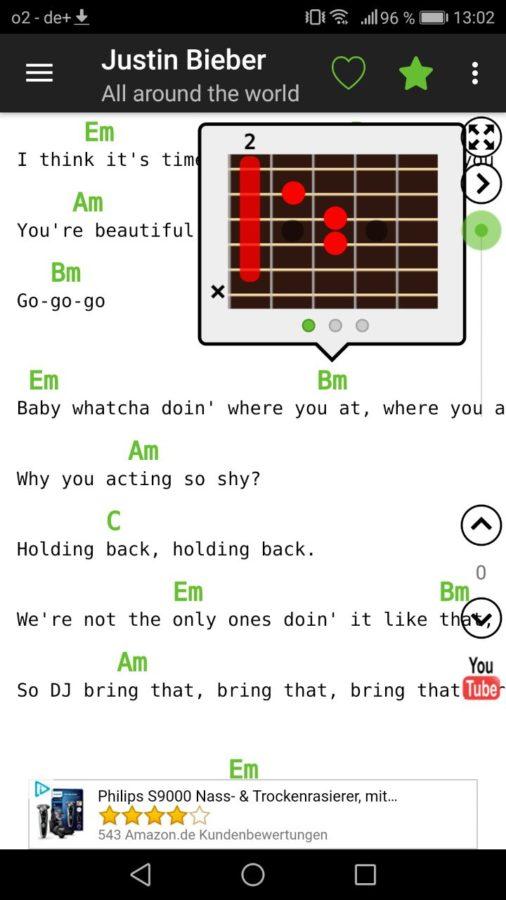 Die besten Apps rund um die Gitarre Guitar Chords and Tabs