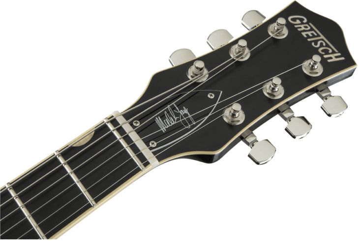 Gretsch G6131-MY Malcolm Young Signature Jet headstock