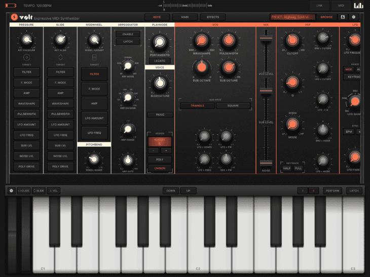 Volt und MIDI / MPE