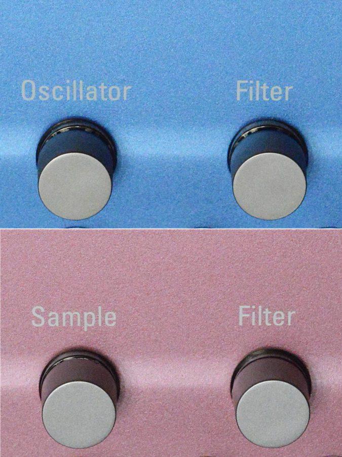 Der einzige Unterschied in der Beschriftung - Oscillator vs. Sample