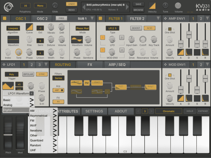 SynthMaster One - LFO