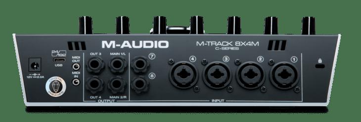 M-Audio M-Track 8X4M Rückseite