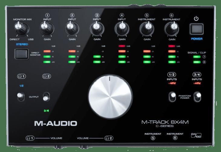 M-Audio M-Track 8X4M Draufsicht