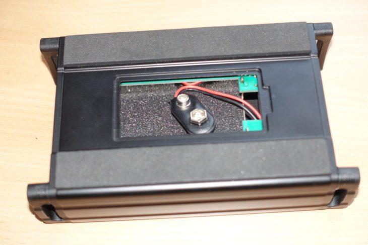 Mackie MDB-Serie, M48 Unterseite mit Batteriefach