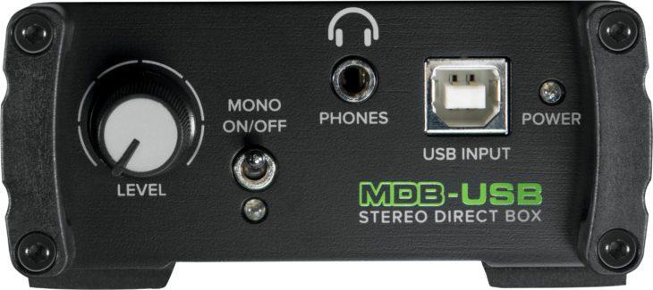 Mackie MDB-Serie, MDB-USB vorne