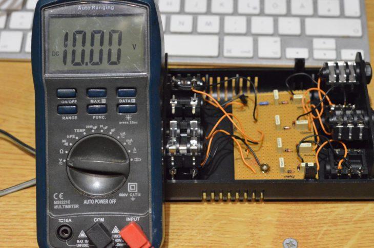 Der DIY-Konverter auf 10V kalibriert