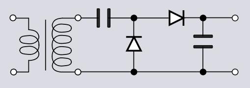 Greinacher-Schaltung: Spannungsverdoppler und Gleichrichter