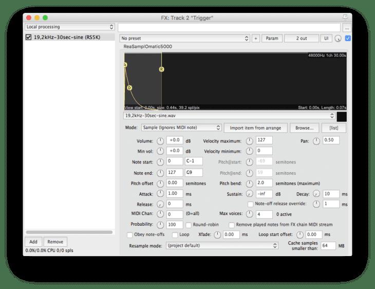 So erzeugt man mit einem einfachen Sampler einen Trigger-Impuls