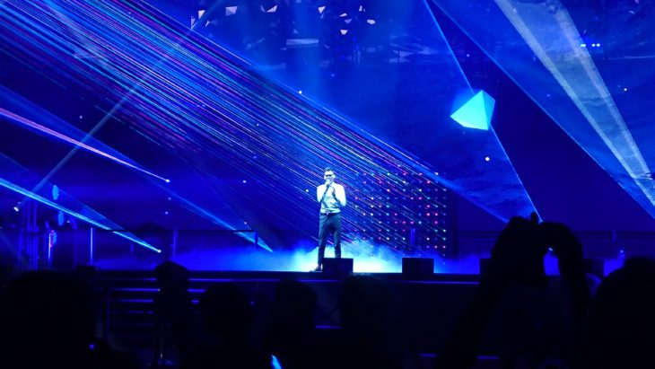 Musikmesse Ryk in der Festhalle Lasershow