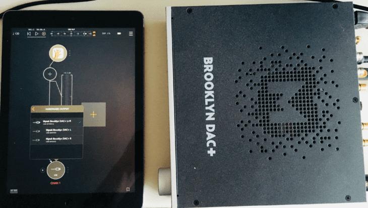 Mytek Brooklyn DAC+ am iPad