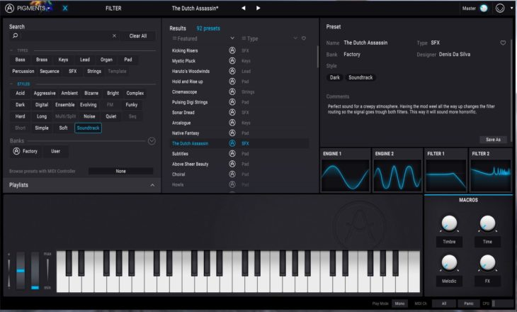 Arturia PIGMENTS Polychrome Software Synthesizer