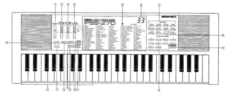 Yamaha PSS-270 (Handbuch)
