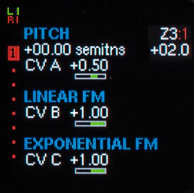 Pitch- und FM-Funktionen