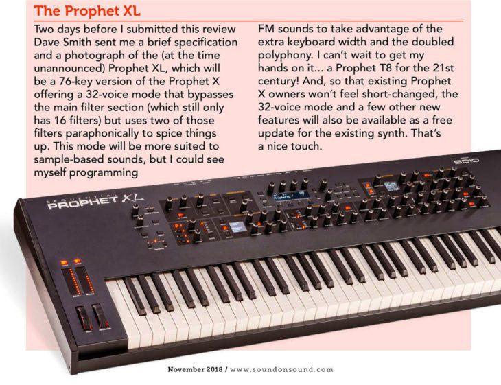Sequential Prophet XL
