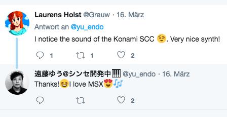 Herr Yu Endo liebt den MSX-Sound