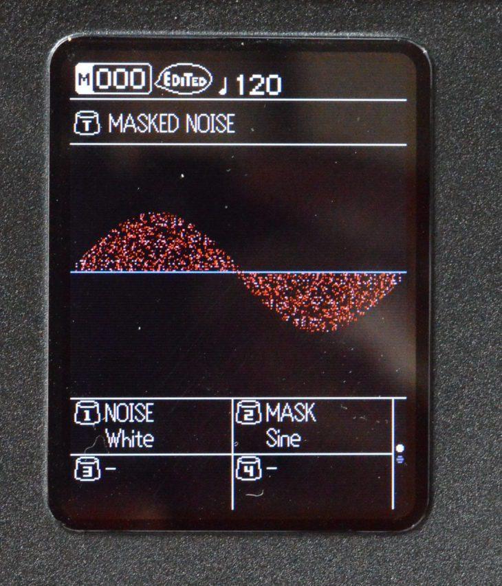Masked Noise hat mich nicht überzeugt, klingt es doch einfach nach Rauschen mit einem Oszillator darüber