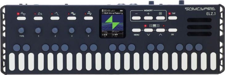 Synth-Engines links, Speicher und System-Einstellungen rechts