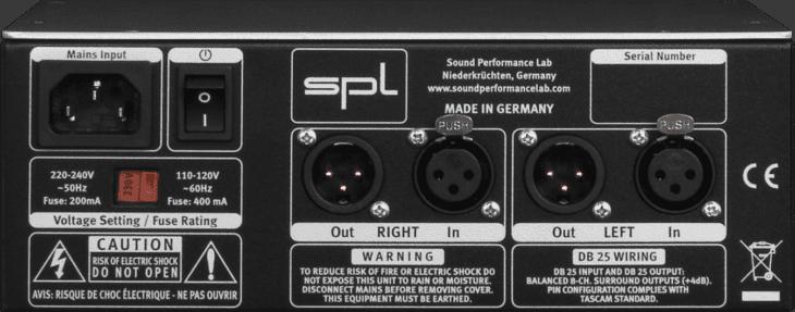 SPL Volume 2 Rückseite