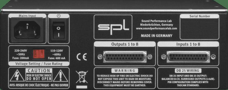 SPL Volume 8 Rückseite