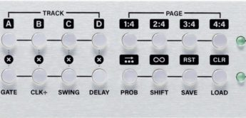 Top News: Intellijel Steppy 1U, Gate-Sequencer