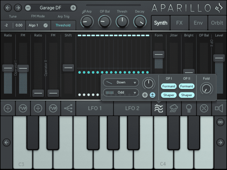 Sugar Bytes Aparillo iOS Formant & Wave-Shaper